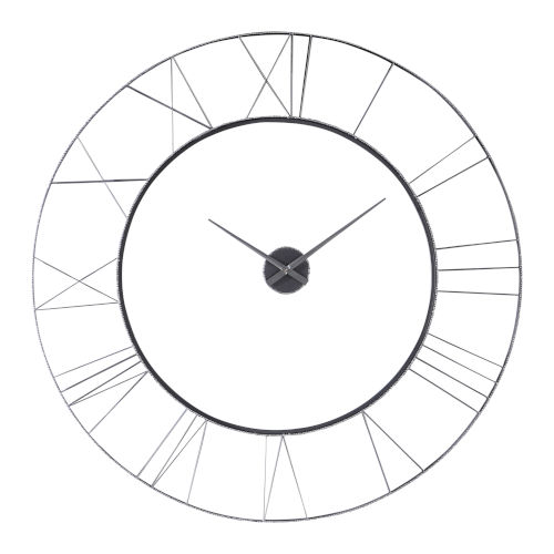 Carroway White 60-Inch Wall Clock