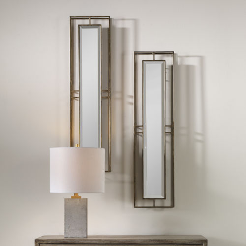 Rutledge Gold Wall Mirror, Set of 2