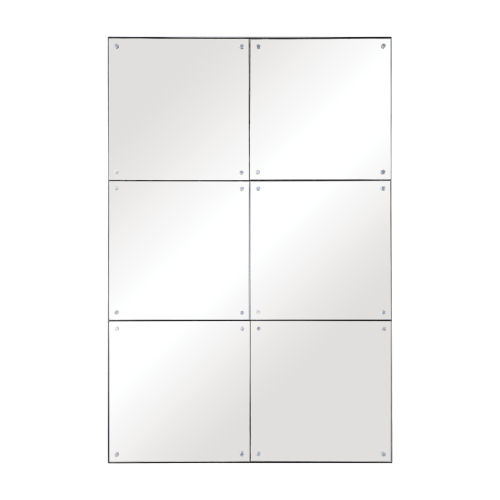 Eldred Silver 37-Inch Rectangular Wall Mirror