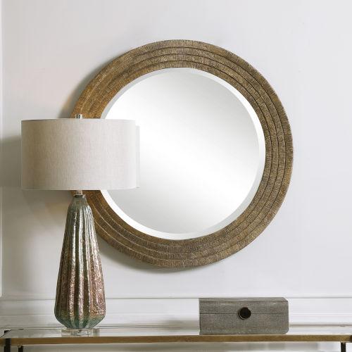 Relic Gold 36-Inch Round Mirror
