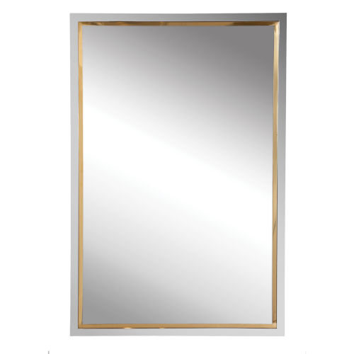 Locke Chrome and Gold 20-Inch Vanity Mirror
