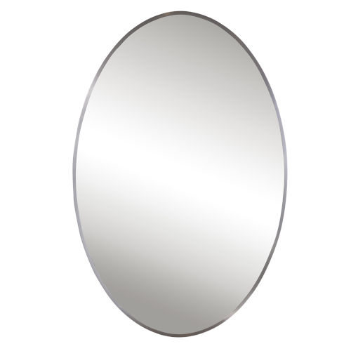 Williamson Brushed Nickel 25-Inch Oval Mirror