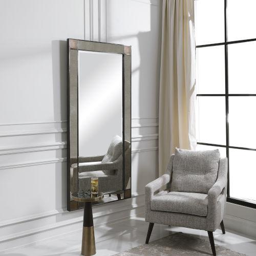 Newcomb Dark Bronze 63-Inch Leaner Floor Mirror