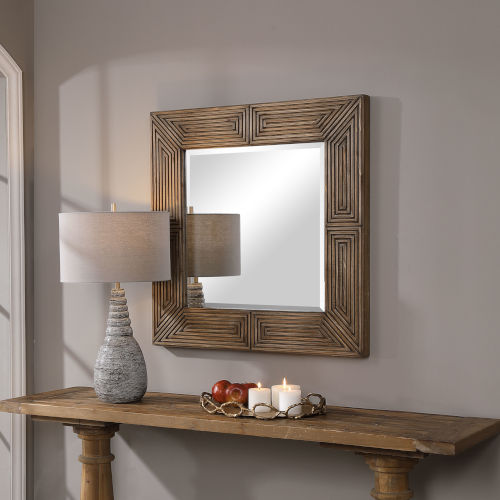 Traveler Chestnut Square Mirror