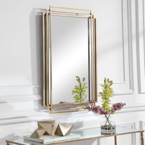 Amherst Brushed Gold Mirror