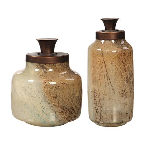 Elia Bronze and Brown Decorative Jars