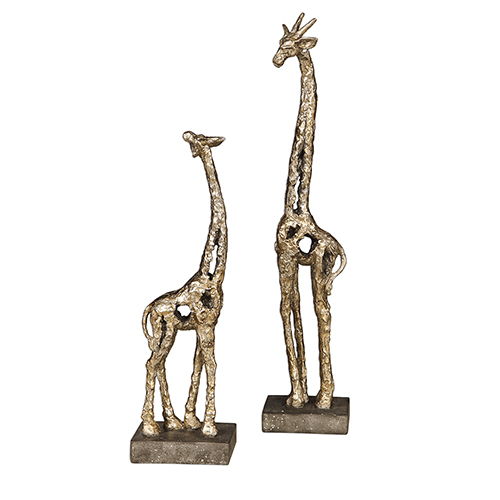 Masai Gray and Silver Sculpture