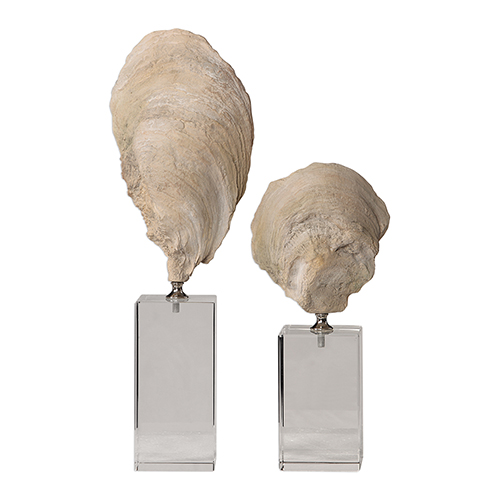 Oyster Silver and White Sculpture