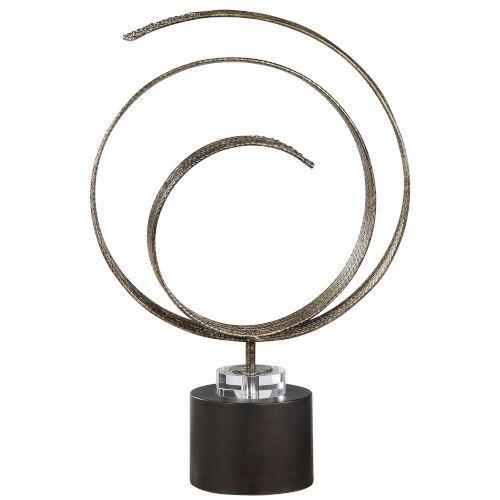 Elio Oil Rubber Bronze and Copper Patina Sculpture