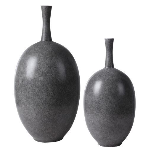 Riordan Black and White Vases, Set of 2