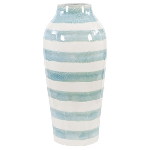 Ortun White Striped Vase