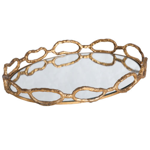 Cable Gold Leaf Chain Tray