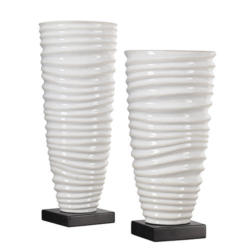 Kiera Bronze and White Vase