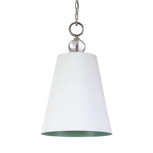 Delray High Gloss White One-Light Pendant