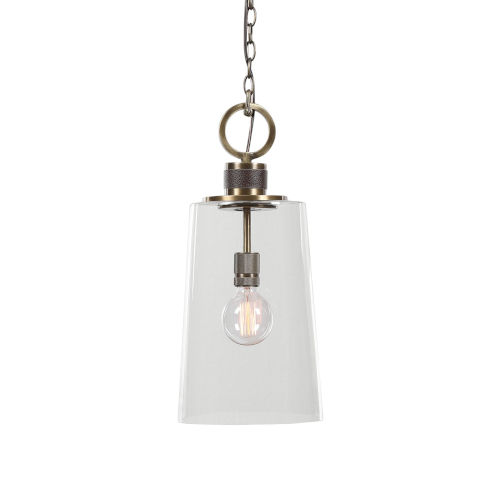 Rosston Antique Brass One-Light Mini Pendant