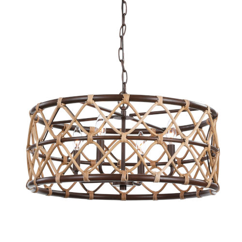 Hilo Oil Rubbed Bronze Four-Light Pendant