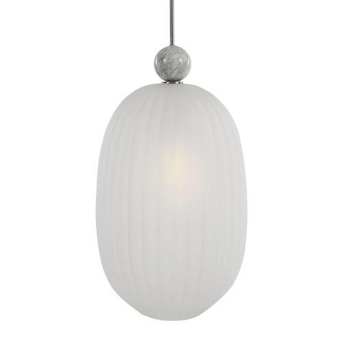 Creme Brushed Nickel One-Light Pendant
