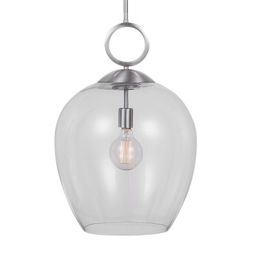 Calix Nickel 1-Light Pendant