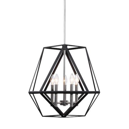 Sagard Black 5-Light Pendant