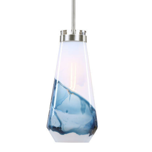 Windswept Brushed Nickel One-Light Mini Pendant