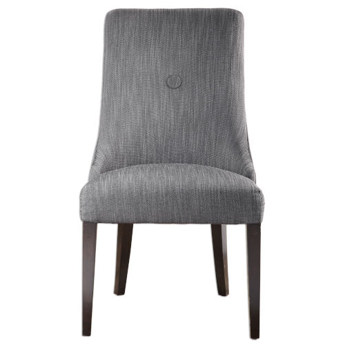 Patamon Gray and Walnut Armless Chair, Set of 2