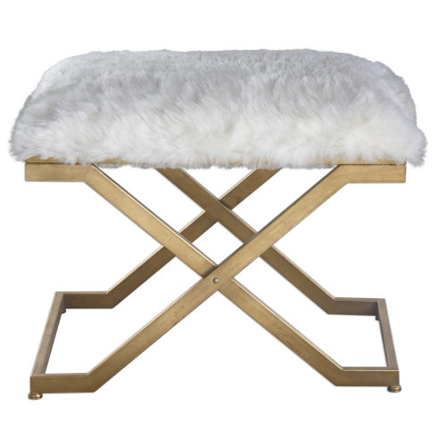 Farran Gold and White Bench