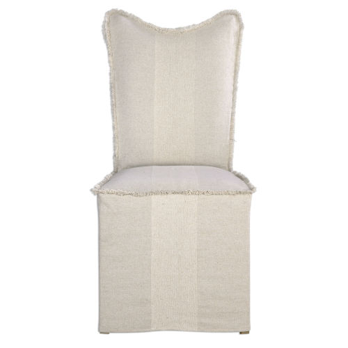 Lenore White Armless Chair, Set of 2