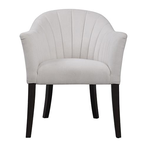Lavana White Accent Chair