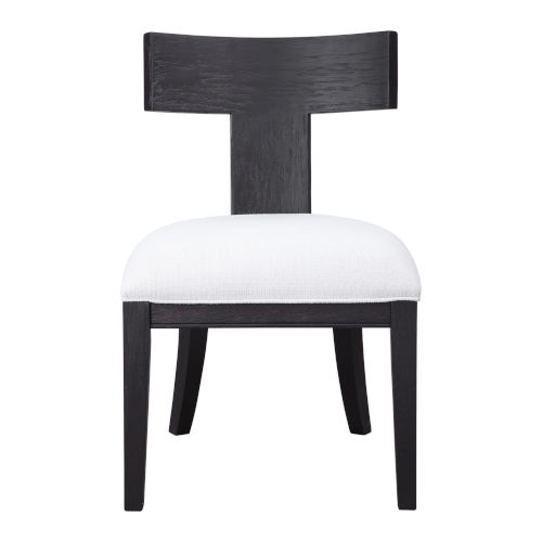 Idris Charcoal Black Accent Chair