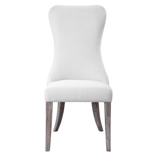 Caledonia White Accent Chair