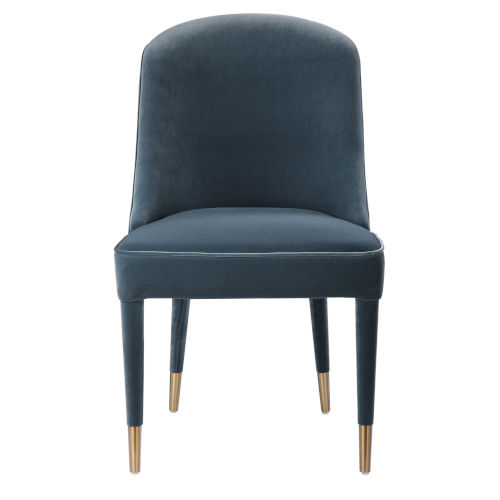 Brie Blue Armless Chair, Set of 2