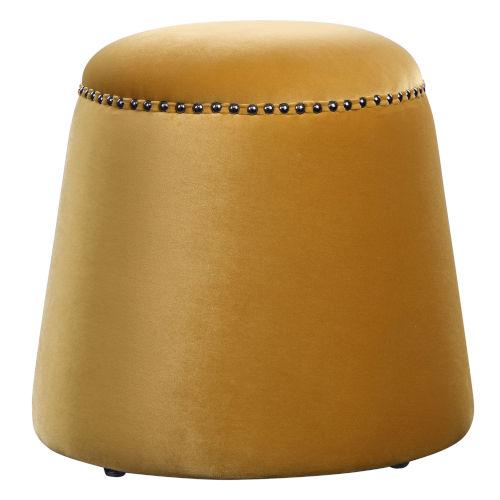 Gumdrop Yellow 19-Inch Ottoman