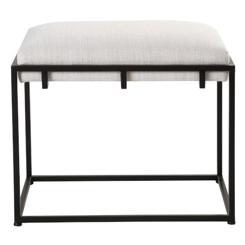 Paradox Matte Black and White 24-Inch Small Bench