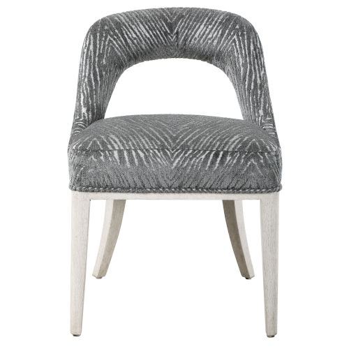 Amalia Charcoal and Light Gray Accent Chair, Set of 2