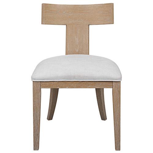 Idris Natural Oak Armless Chair