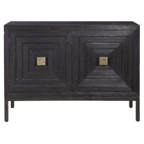 Aiken Dark Walnut 43-Inch Two Door Cabinet