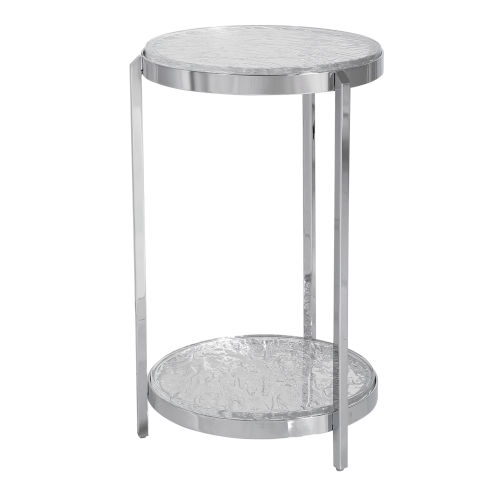 Clarence Polished Nickel Accent Table
