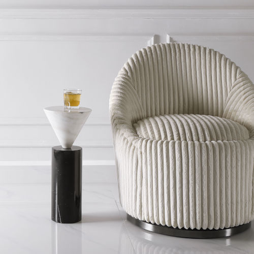 Top Hat Black and White Top Hat Marble Drink Table