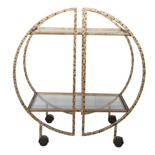 Zelina Brass Bar Cart