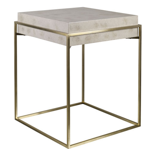 Inda Ivory Accent Table