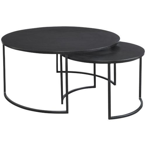 Barnette Black Nesting Coffee Table, Set of 2