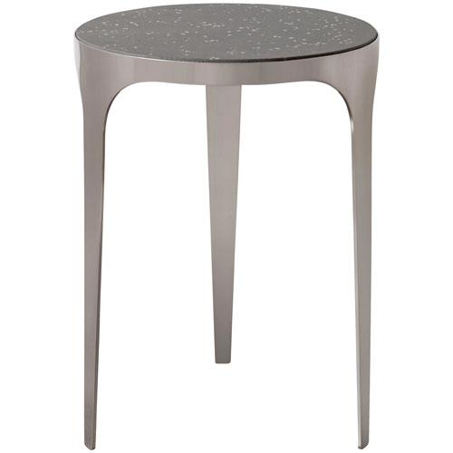 Agra Brushed Nickel Side Table