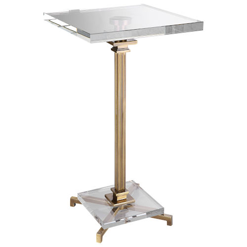 Richelieu Brushed Brass Drink Table