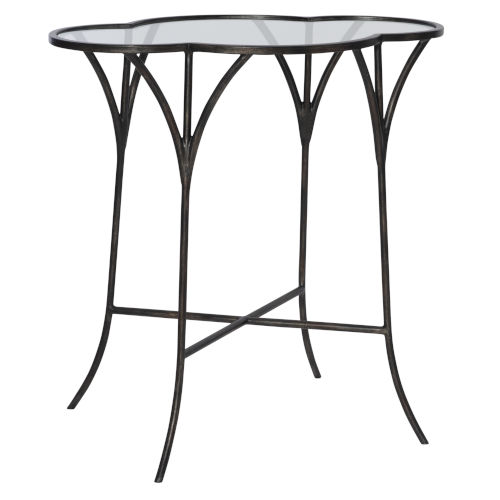 Adhira Aged Black Accent Table
