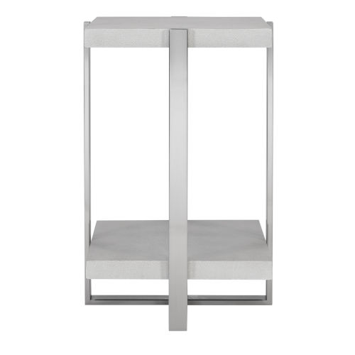Arnaut Brushed Silver Accent Table