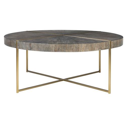 Taja Brushed Brass Round Coffee Table