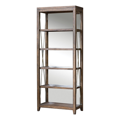 Delancey Silver and Woodtone Etagere