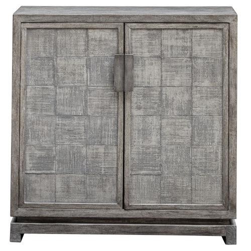 Hamadi Distressed Gray 34-Inch Two Door Cabinet