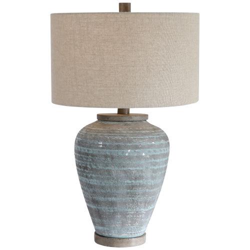 Pelia Aqua Blue Table Lamp