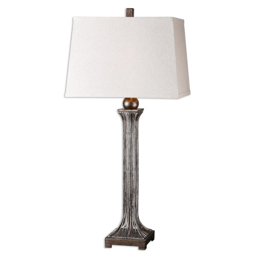 Coriano Bronze and Silver One-Light Table Lamp, Set of 2